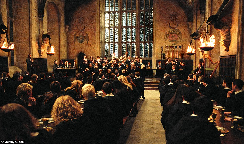 Image result for harry potter school dining hall
