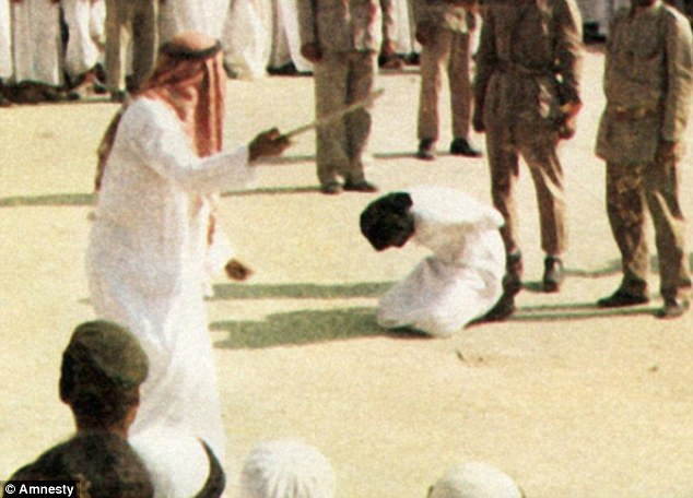Death penalty: A human rights group told MailOnline that the crucifixion sentence in Saudi Arabia entails beheading, then a public display of the body