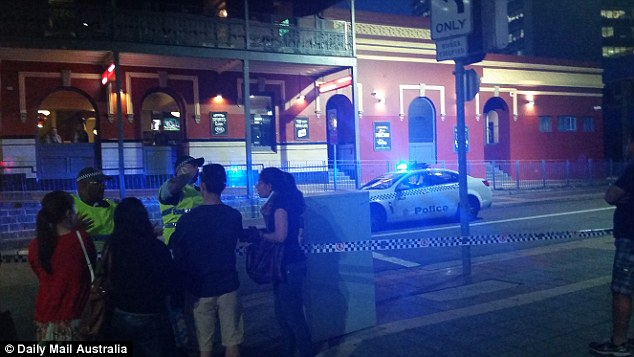 Several roads in Parramatta were blocked after the shooting and helicopters were seen circling overhead, pictured is Charles Street