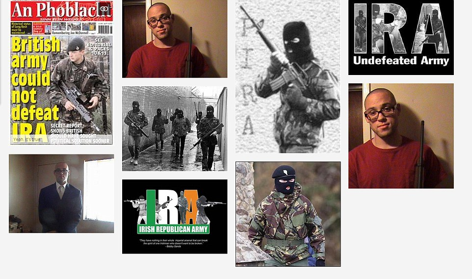 Gallery: On the killer's MySpace page he has several posts and pictures where he appears to praise the IRA and their terrorist activites