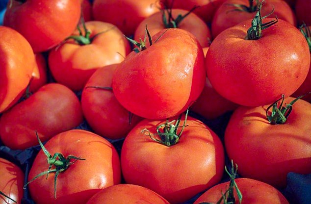 Tomatoes are rich in lycopene which has been proven to lower the risk of getting cancer