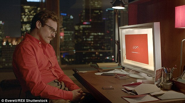 The report looks at how sex will evolve and predicts love and sex will become increasingly separate in the future, as robots take on human roles such as in sci-fi scenarios seen in 'Humans' and Spike Jonze's film, Her (a still from Her is pictured showing Joaquin Phoenix's character falling in love with an operating system
