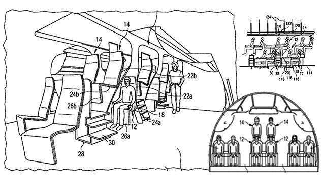 Airbus files patent for split-level mezzanine style
