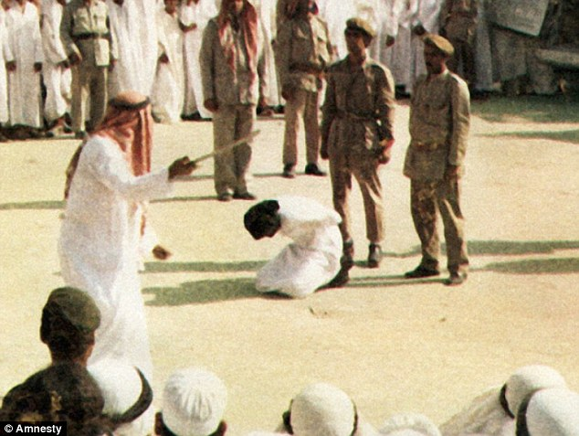 Punishment: Saudi Arabia has threatened to execute those who spread rumours about the government on social media (file photo of a state execution)