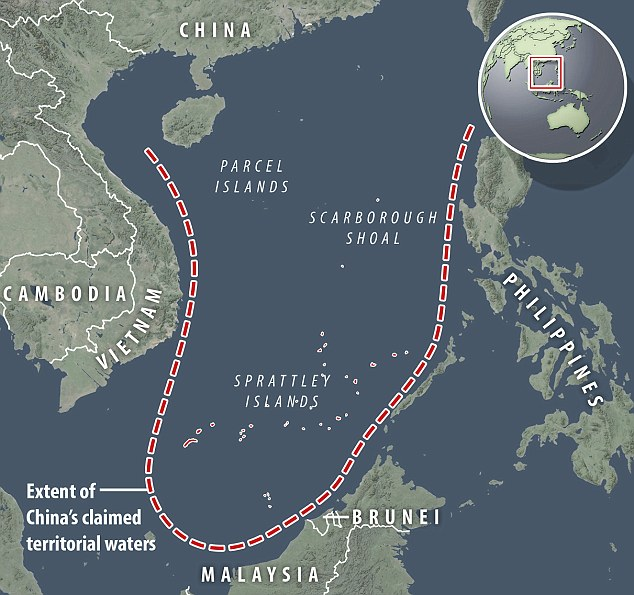 Claims: China has stake its claim to a huge area of the South China Sea, which includes islands it has been building