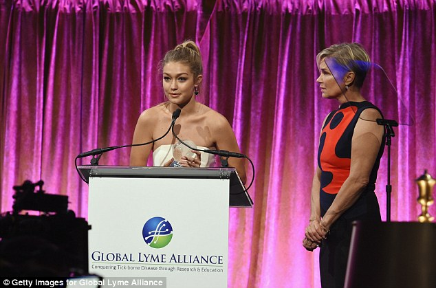 Proud: Gigi presented her mom with the Power Of One award at the event, giving an emotional speech