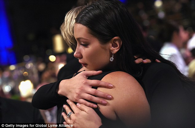 Close connection: Bella, 18, also received a warm embrace from Yolanda as she vowed to continue her fight to find a cure