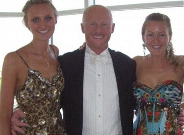 Family illness: Phones 4u founder John Caudwell with his two daughters Rhiannon (right) and Rebecca (left) who all have been diagnosed with Lyme disease. Mr Caudwell believes that the disease is endemic, arguing that if an entire family like his can be infected, the disease must be both sexually transmitted and passed from mother to child