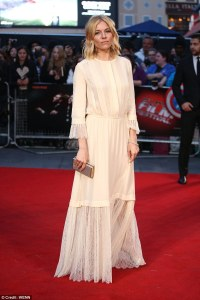 Sienna Miller in peasant-style dress as she hits High-Rise ...