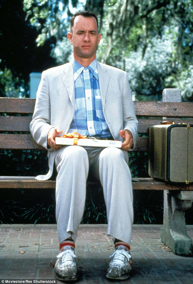 "Tom Hanks - Forrest Gump ""life is like a bunch of chocolates"""
