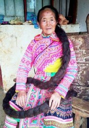 chinese woman hair grows eight