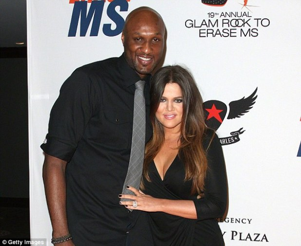 Odom is the estranged husband of Khloe Kardashian (above in May 2012), who filed for divorce in 2013 after marrying Odom in 2009