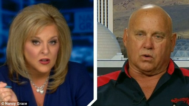 Dennis Hof had told Nancy Grace Wednesday (pictured) that the image-obsessed Kardashian family tried to stop him from talking to the media about Odom and that he told them to 'go to hell'