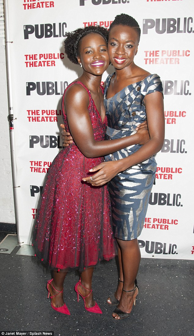 Close up: Writer Danai, who also stars on The Walking Dead, was inspired to write the play after learning about women soldiers in Africa. The drama follows five women - four wives of a warlord and a peace negotiator
