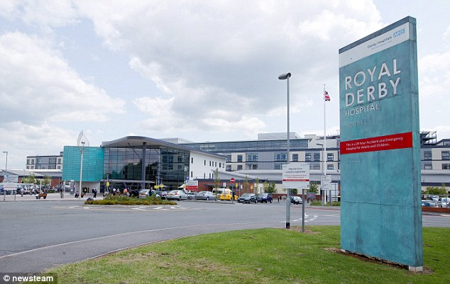 The cardiologist, was arrested after IT staff at the Royal Derby Hospital (pictured) found indecent images of children on his work PC while checking to see if it had been infected by a computer virus