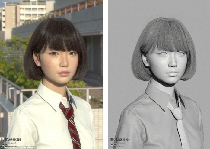 She was created using a series of 3D modelling tools including Matya, often used for film effects.