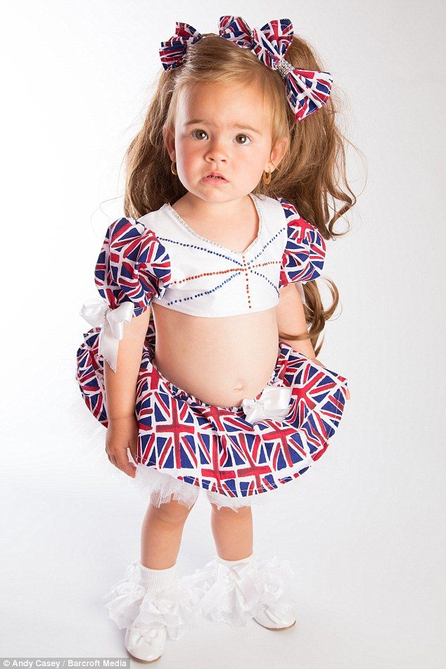 Minnie-Beau has won eight titles since she started pageants aged 18-months and although someone commented on social media why does Jas dress her daughter like a 'prostitute' but she says it is not inappropriate