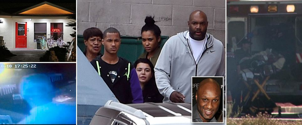 Lamar Odom video shows 'NBA star popping pills' as Caitlyn joins Khloe at hospital