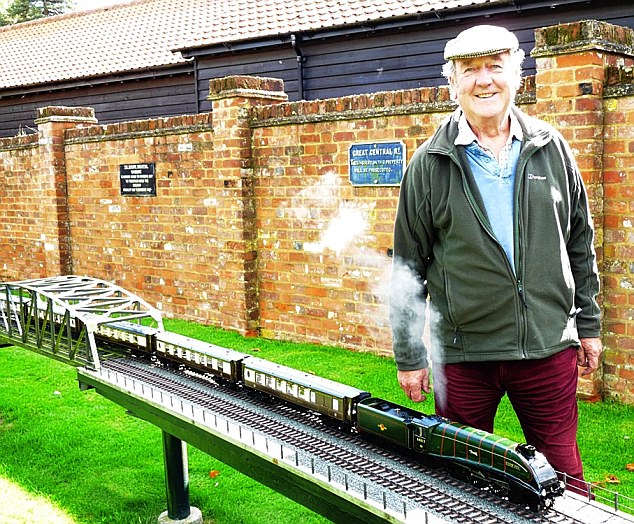 John Judson is a member of the Gauge One Model Railway Association and holds open days on which he runs the trains for people who live locally, as well as for model train enthusiasts