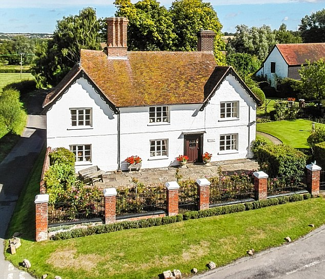 The two-floor house, which is in the village of Little Bardfield in Essex, is being sold for £1million