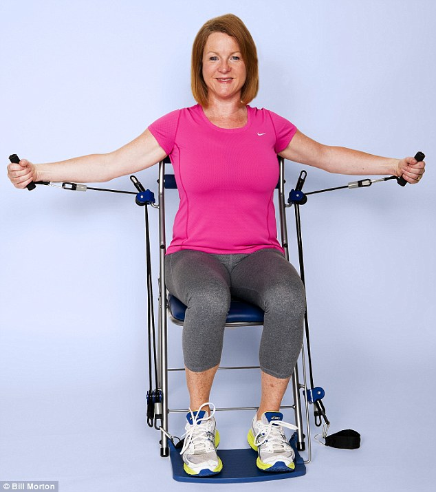 chair gym argos steel for dining table can the get you fit while watch telly it promises to elastic straps on be adjusted different amounts of resistance