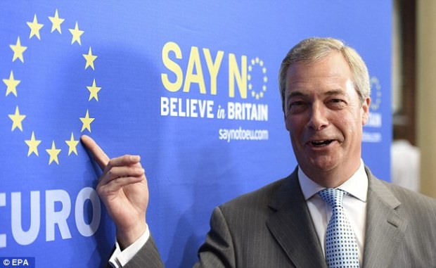 Ukip leader Nigel Farage says that unless David Cameron can get a full-on treaty change, his renegotiation will be deemed a complete failure