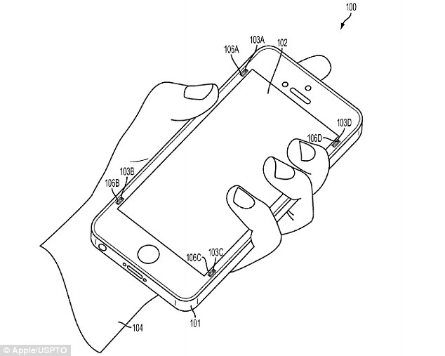 Apple patent reveals 'bumpers' that extend when an iPhone