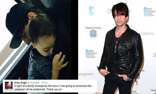 Criss Angel Cancels Vegas Show After His Son Is Diagnosed