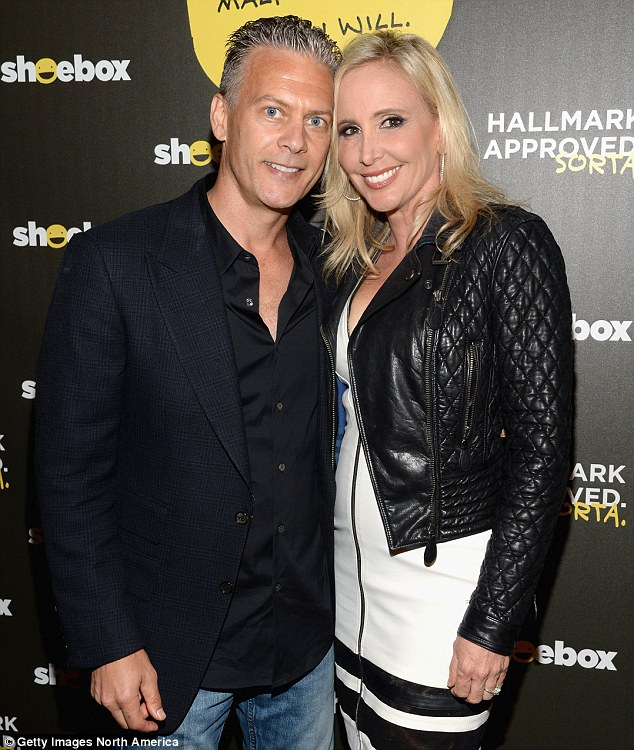 Reality TV: Shannon, 51, and David, 50, seen in June, reconciled after his eight month-long fling with the wife of the boss of an Orange County tech company but went public with the affair on season 10 of RHOC
