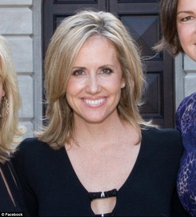 The other woman: Nicole McMackin, 43, engaged in an affair with David and according to reports on Sunday, was involved in a shouting match with Shannon at the USC football game this weekend in LA