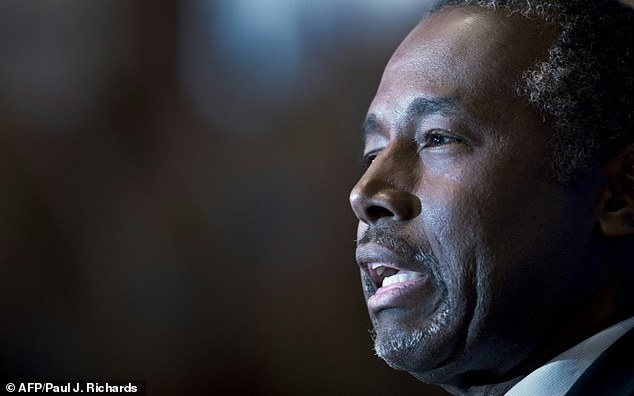 Presidential hopeful Ben Carson, pictured October 9, has overtaken rival Donald Trump in polling among likely Republican voters in the early battleground state of Iowa