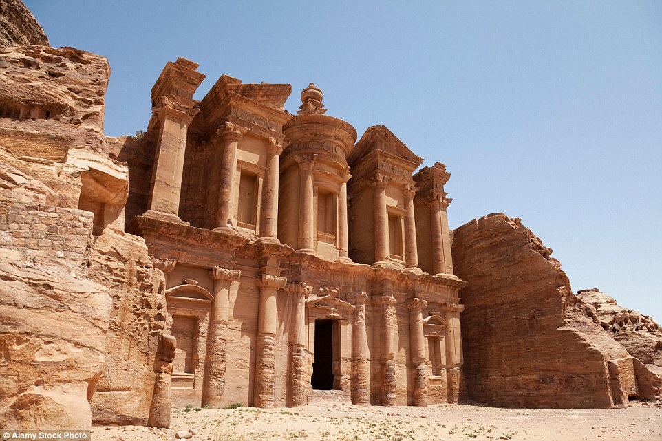 There are many reasons that the stunning rose-coloured Petra in Jordan could soon look a lot different in a few years time. These include weather erosion, from wind and rain attacking the rocky surface, and also from tourists touching the iconic Al Khazneh temple surface