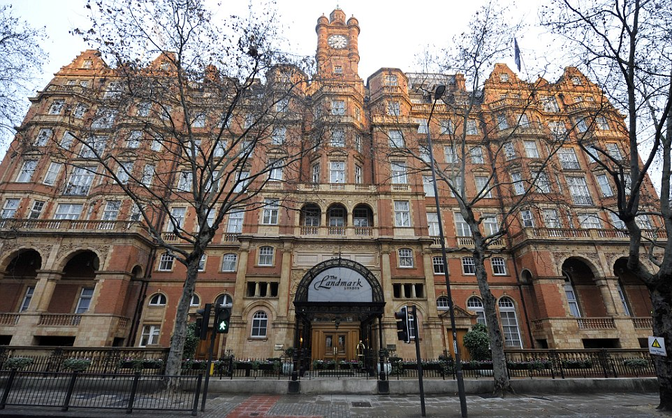 The Landmark Hotel in London is another popular wedding venue for uber-rich couples