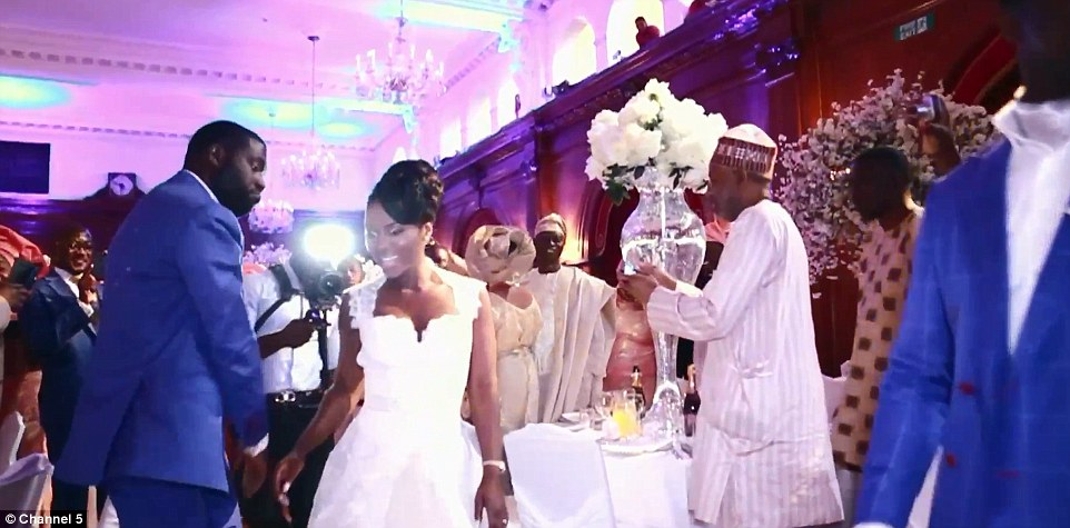 A traditional Nigerian wedding held at The Dorchester pictured in Channel 5 documentary Eamonn & Ruth: How The Other Half Lives