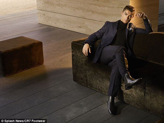new style of sofa set rustic covers cristiano ronaldo models his plush footwear as real ...