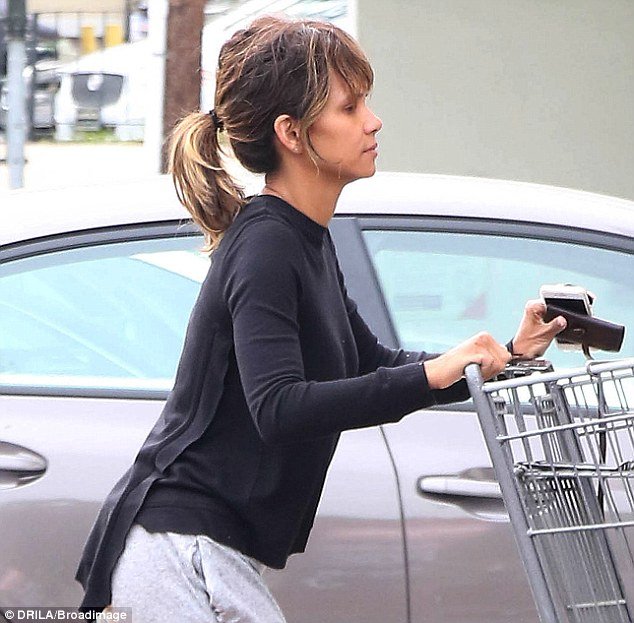 Down: On Monday the X-Men: The Last Stand beauty looked glum as she headed out on a shopping trip to Bristol Farms in Beverly Hills alone