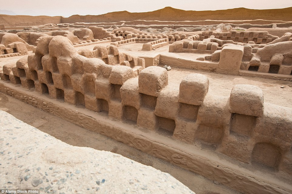 Listed as one of the World Heritage In Danger sites, the picturesque archaeological site of Chan Chan in Peru is at risk from natural erosion