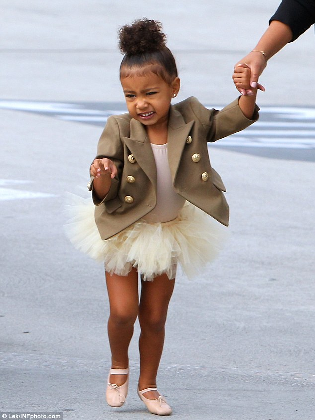 She knows her own mind: North West was videoed walking down the street when she said in her cutest voice, 'I said no pictures,' in LA on Wednesday