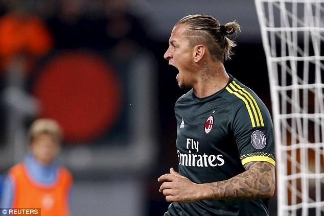 Lazio 1 3 AC Milan Andrea Bertolacci Philippe Mexes And Carlos