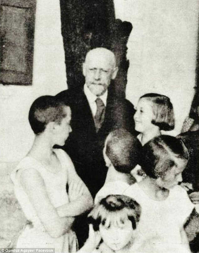 So sad: This image of Jewish doctor Janusz Korczak, who chose to die with the children at his orphanage during the Holocaust rather than leave them, was also re-created by Gunduz