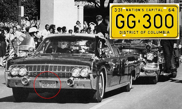 John F Kennedy assassination limo license plates up for