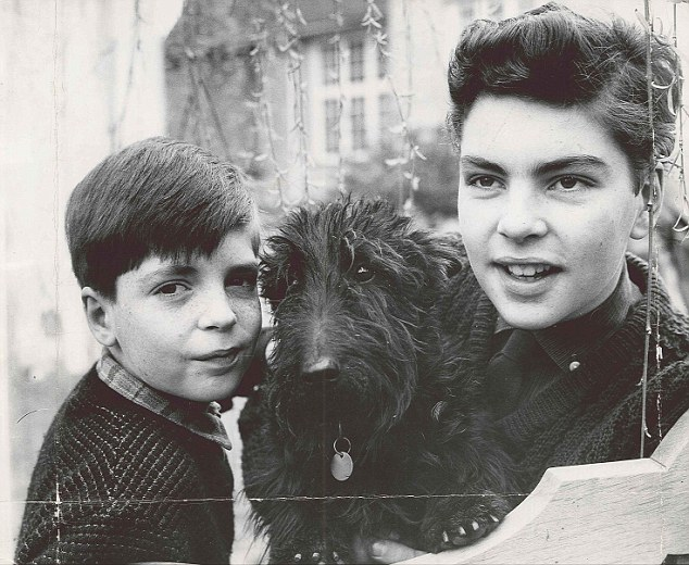 Marc Sinden (left) aged 10, and his 14-year-old brother Jeremy. The headmaster of Edgeborough School, in Surrey, used to stalk the dormitories after lights out and he would occasionally instruct a boy to get out of his bed and accompany him to his study.