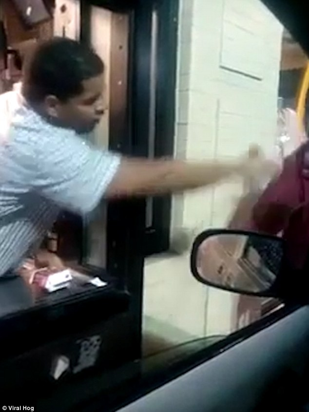 Detroit McDonalds worker throws water in a homeless mans face  Daily Mail Online