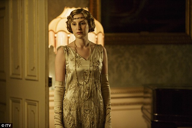 Always overshadowed: Lady Edith's tale of woe continued in the penultimate episode of Downton Abbey