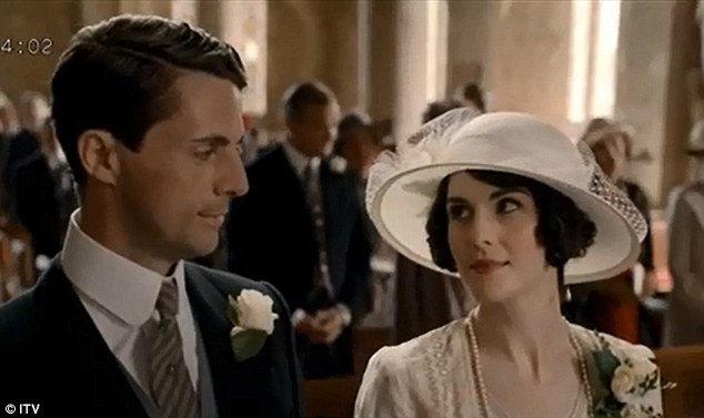 Wedding bells: It turns out all Lady Mary Crawley (Michelle Dockery) needed was a man who wouldn't take no for an answer, in the guise of Henry Talbot (Matthew Goode)
