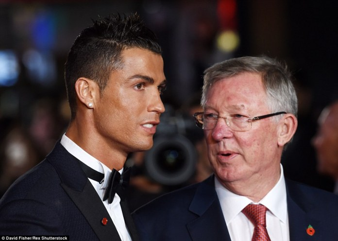 Cristiano Ronaldo meets up with Sir Alex Ferguson at the Leicester Square premiere of hiseponymous film 'Ronaldo' on Monday evening