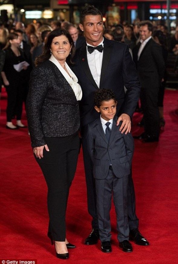 It was a family affair for Ronaldo as his mother Maria Dolores dos Santos Aveiro...