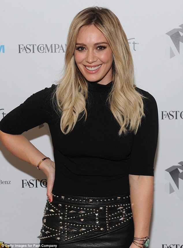 Hilary Duff dons edgy thighhigh boots for panel on TV
