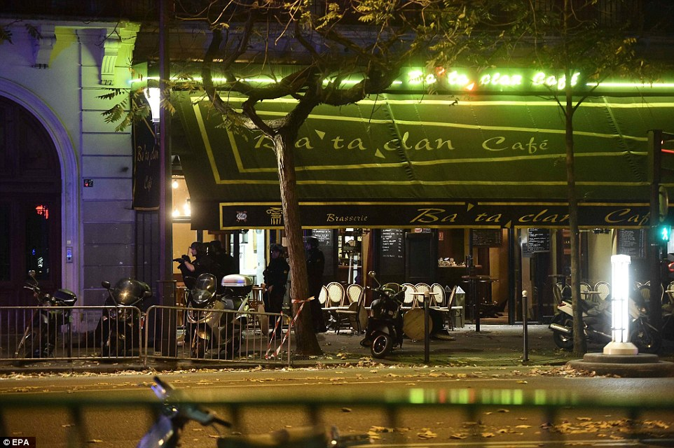 A gunman who yelled 'Allah Akbar' is believed to have taken at least 100 people hostage at the Bataclan theatre (pictured) in Paris