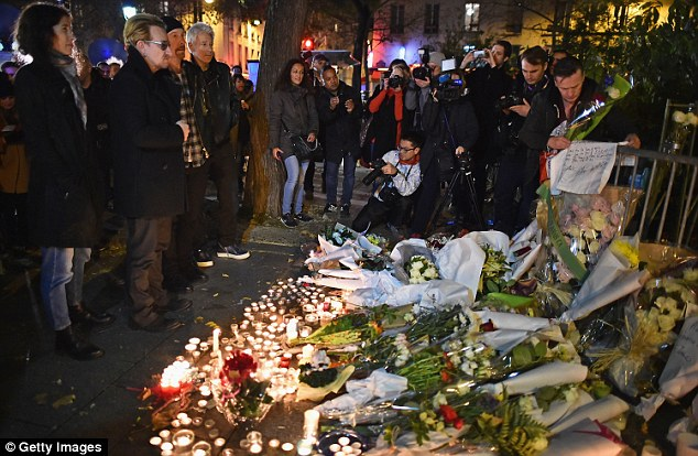 Public mourning: The band made a point of expressing their sadness in view of the world's media